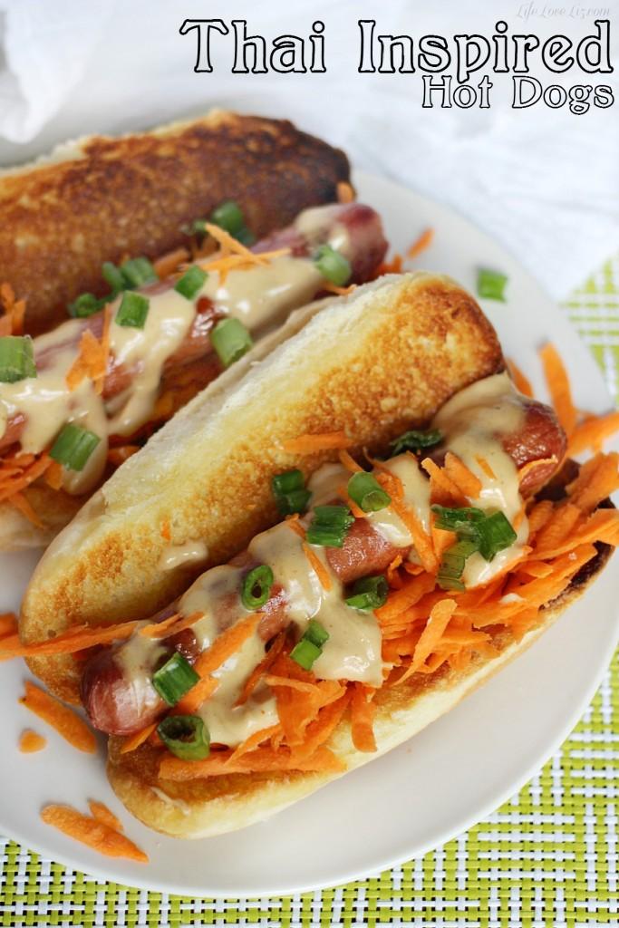 Thai Inspirte Hot Dogs