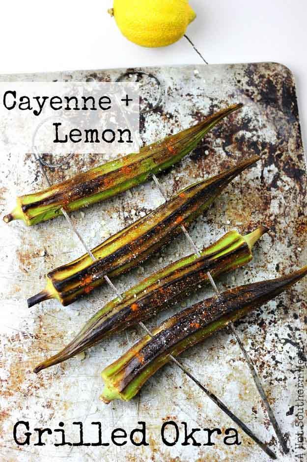 Cayene & Lemon BBQ veggies