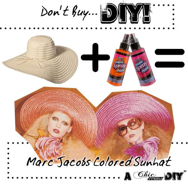 DIY colored straw sun hats