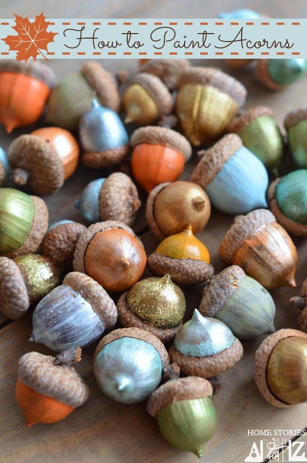 DIY - Painted Acorns
