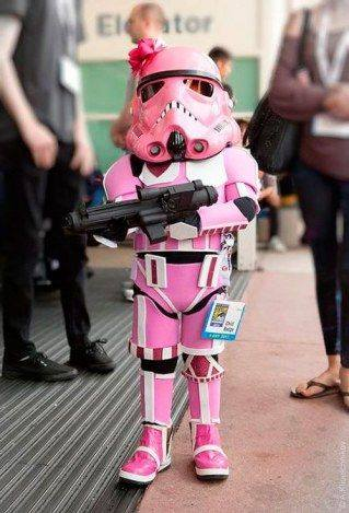 A little pink stormtrooper!!!!!