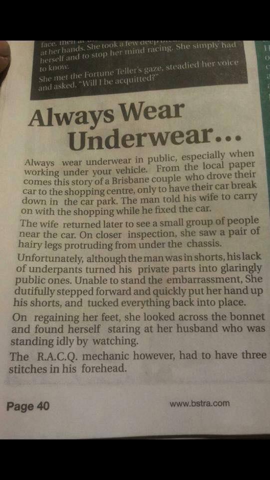 Always Wear Underwear
