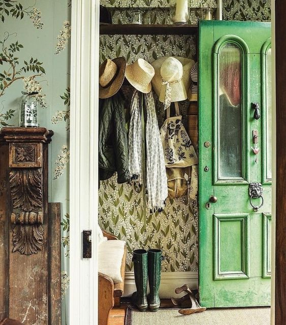 Bright Green Front Door