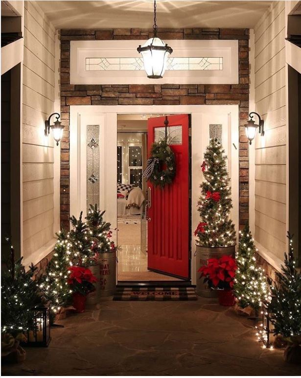 Red holiday door