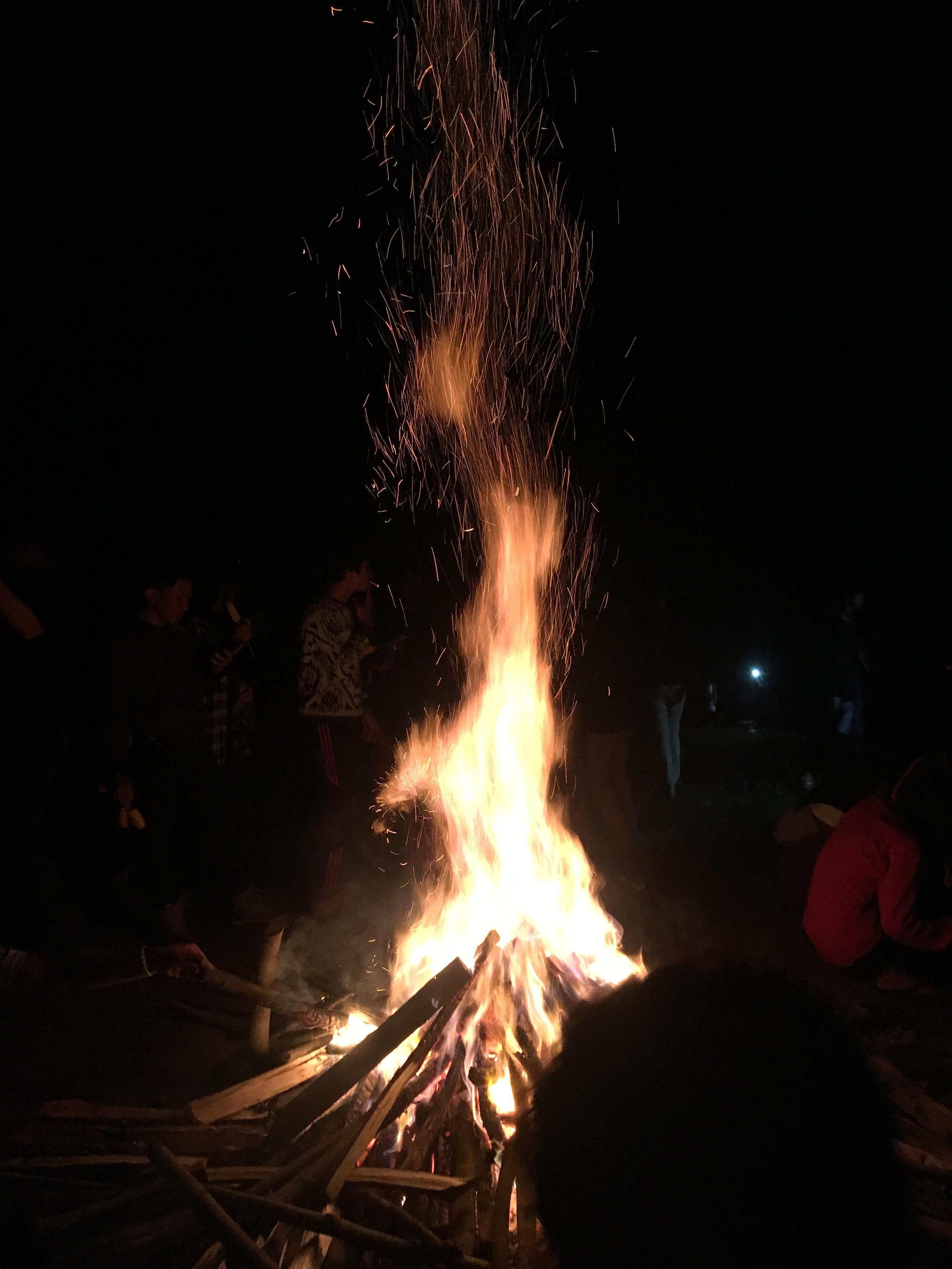 bonfire in the lastnight