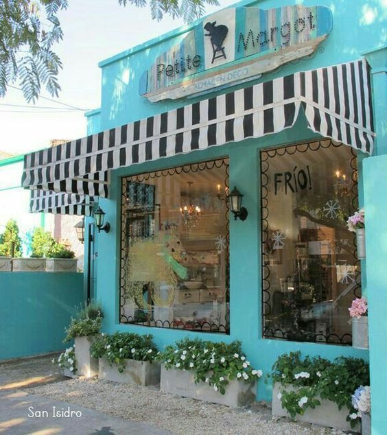 Turquoise storefront
