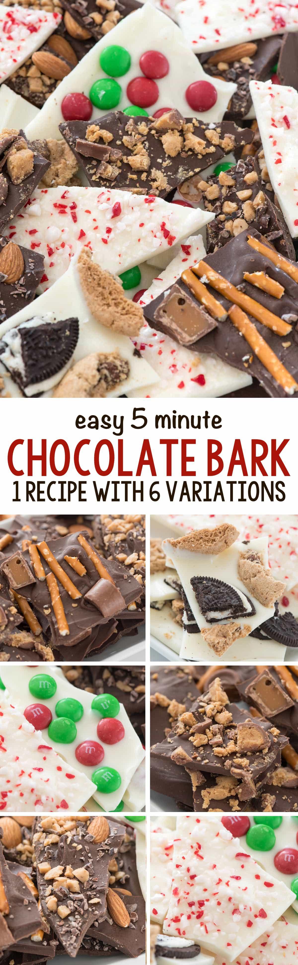 5 Minute Chocolate Bark Recipes