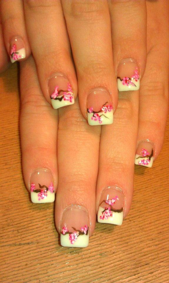 Nail blossom cherry art