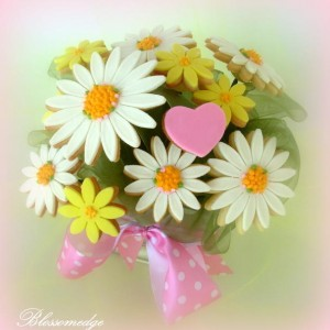 Daisy bouquet cookie