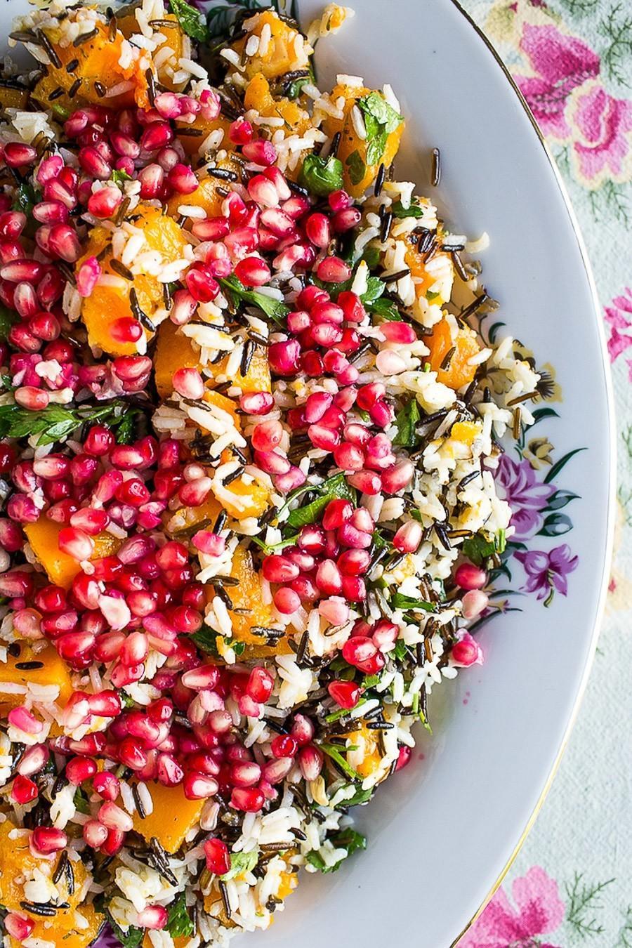 Jeweled Rice and Pomegranate Salad
