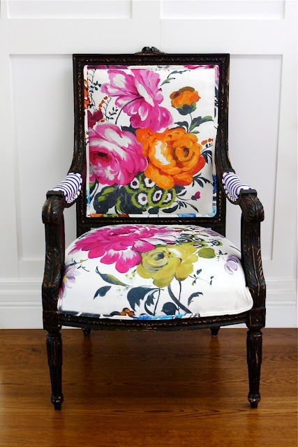 Beautiful flowered chair