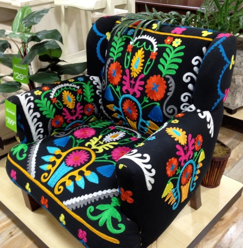 Folk patterned chair