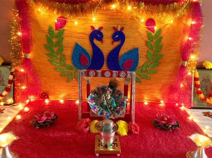 Krishna Jhula and Janmashtami Decoration Ideas