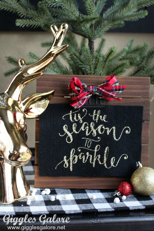 Rustic Glam Holiday Sign
