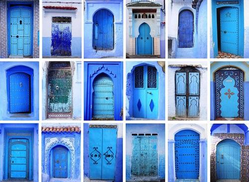 Blue doorways