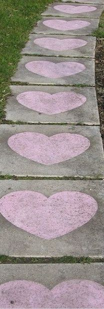 Make Chalk Hearts up to her door.