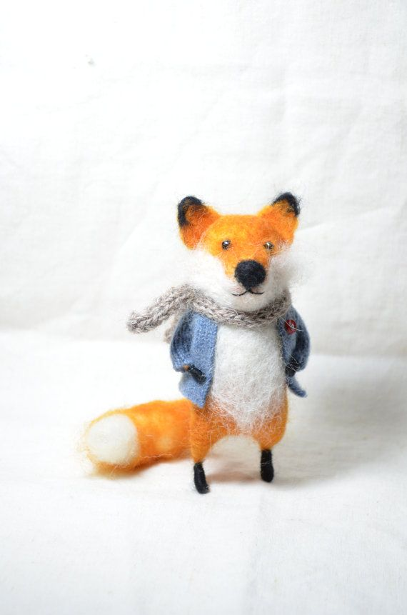 Foxy felted creature