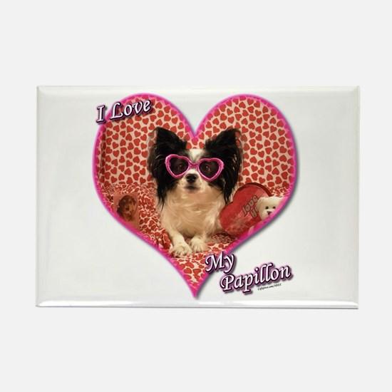 Papillon Dog Rectangle Magnet