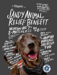 Sandy Animal Relief Benefit