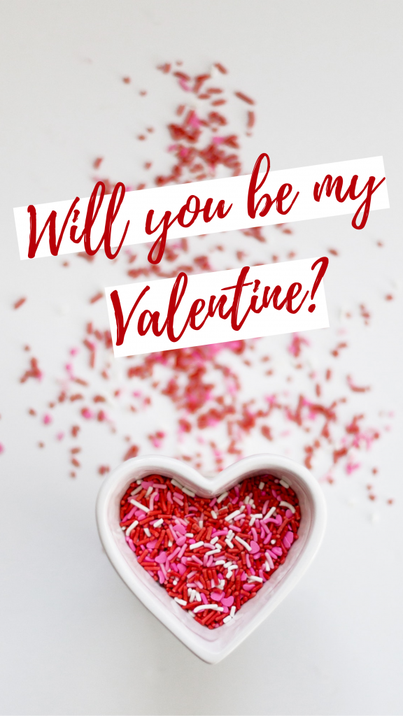 Will you be my Valentine Template!
