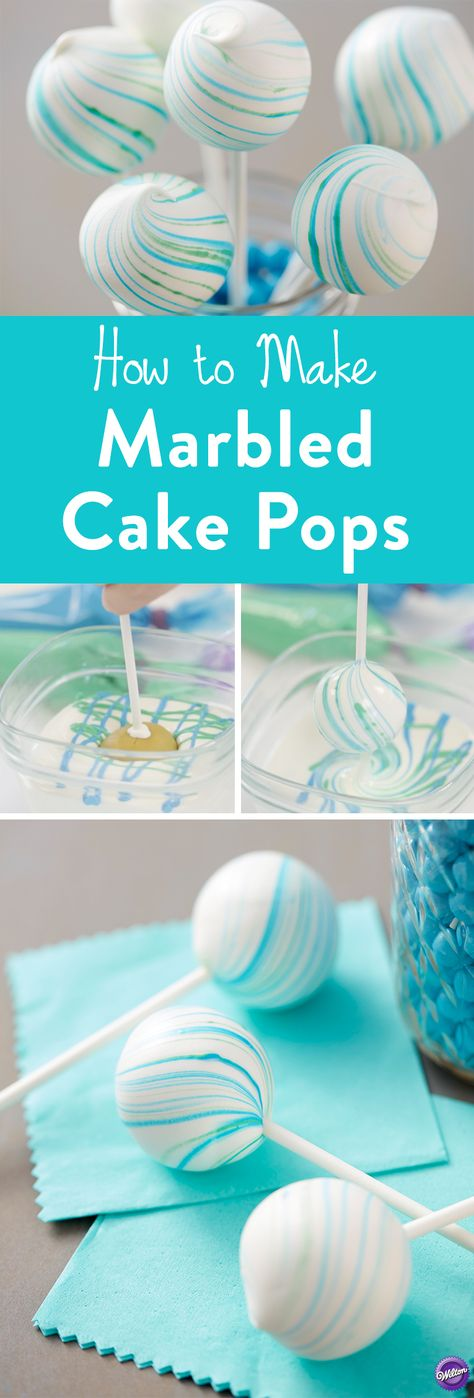 Marbled Cake Pops