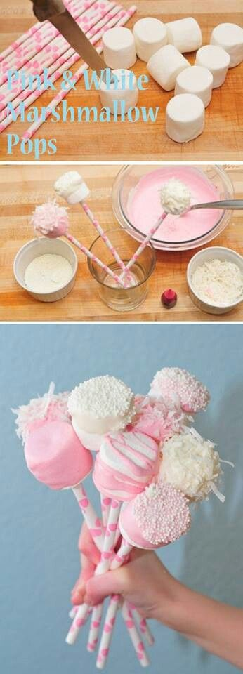 Pink and White Marshmallow Tops