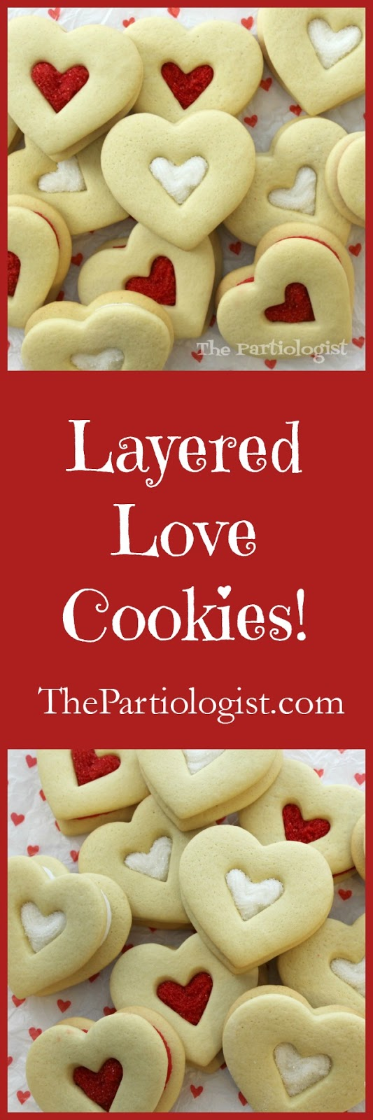 Cut out love cookies