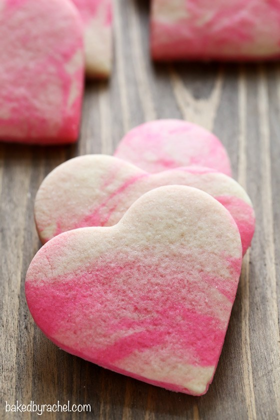 Marbled Valentine's Day Cookies