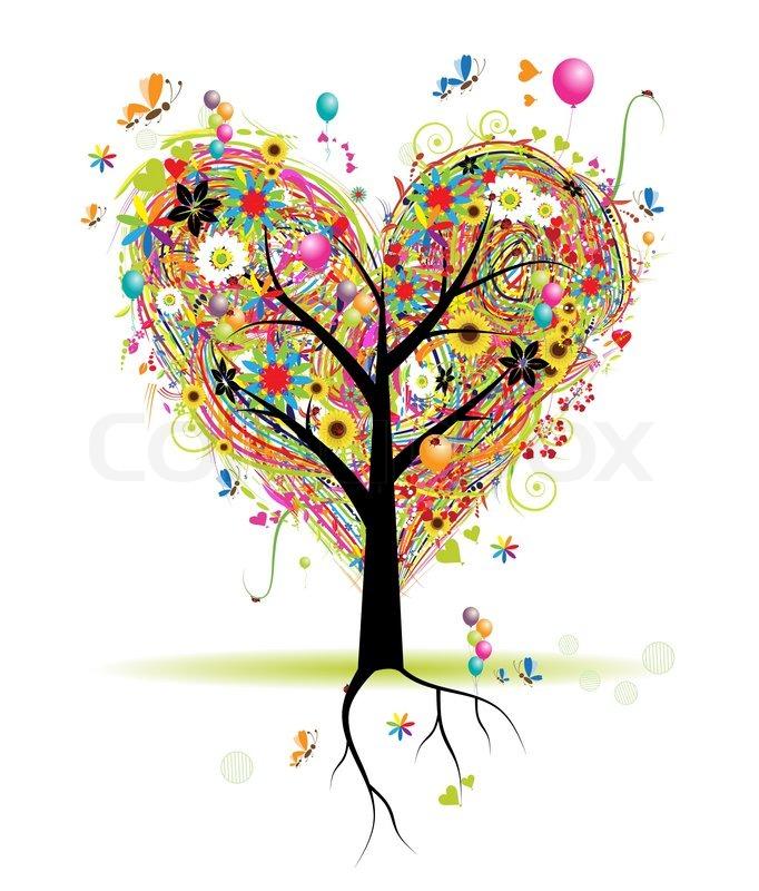 Holiday Tree is heart shaped