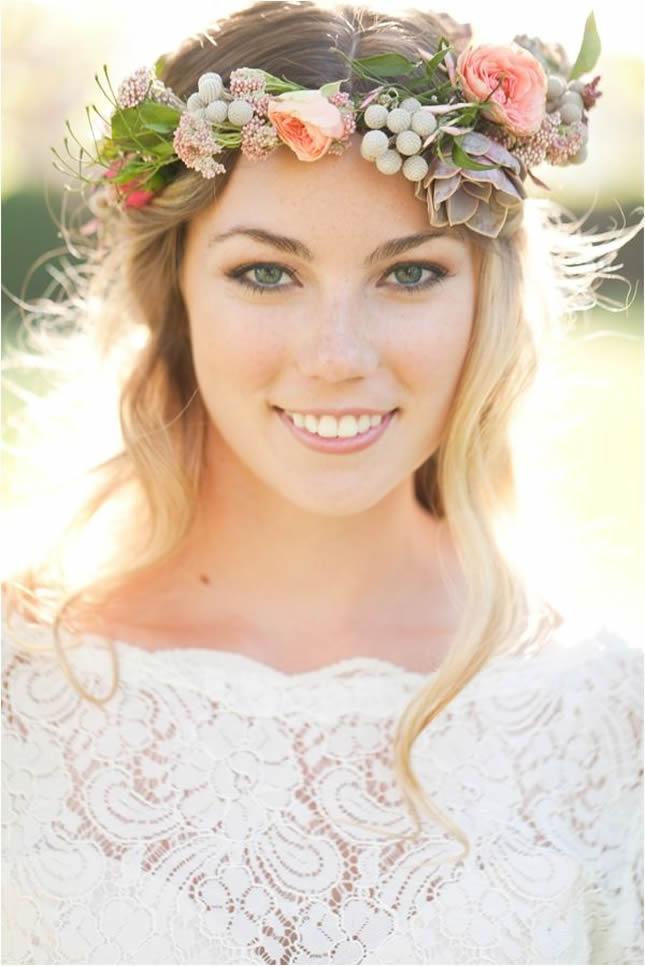 Spring flowers crowns