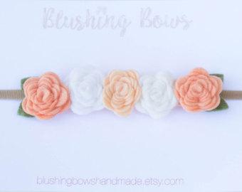 Peach crown ombre flower