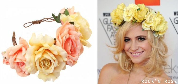 Floral rock rose crowns