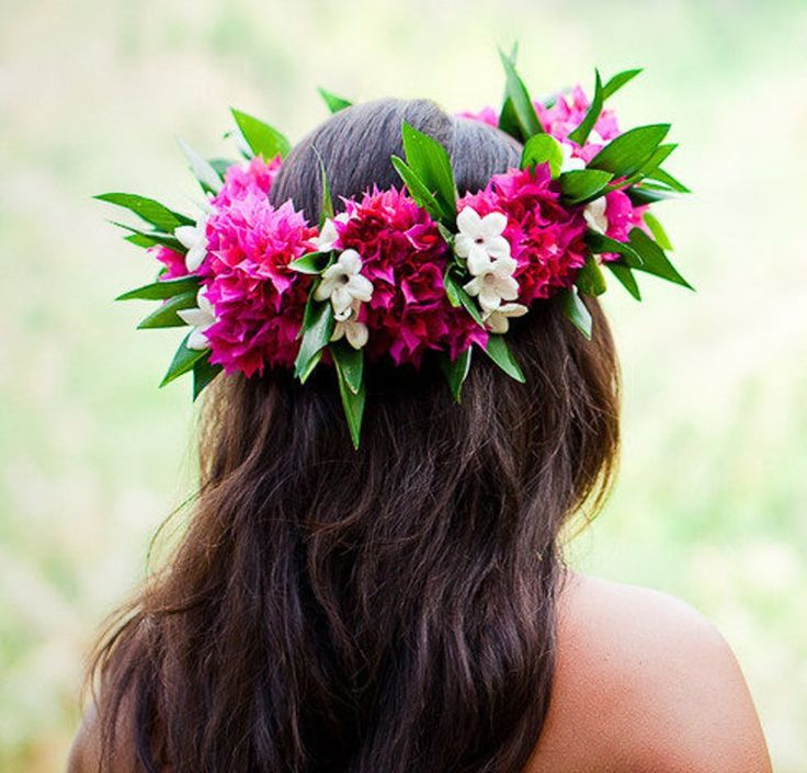 Hair about flower crown
