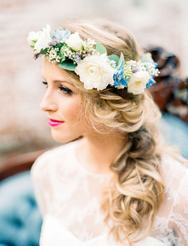 Wedding crown flower crown