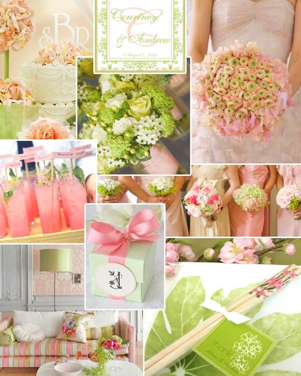 Pastel weddings green theme