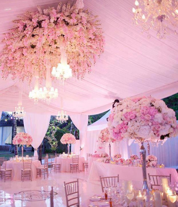 Pink receptions wedding theme