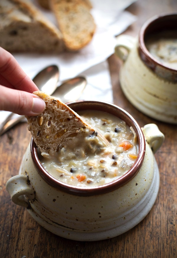crockpot chicken wild rice soup