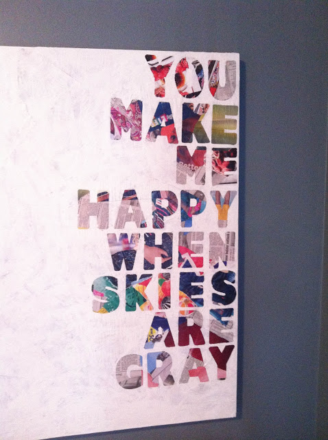 DIY Magazine Quotes on Canvas
