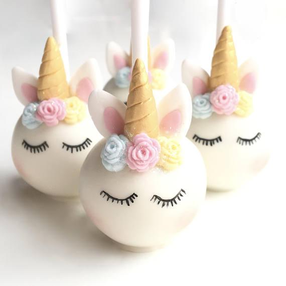 4 Sleeping Unicorn Cake Pops