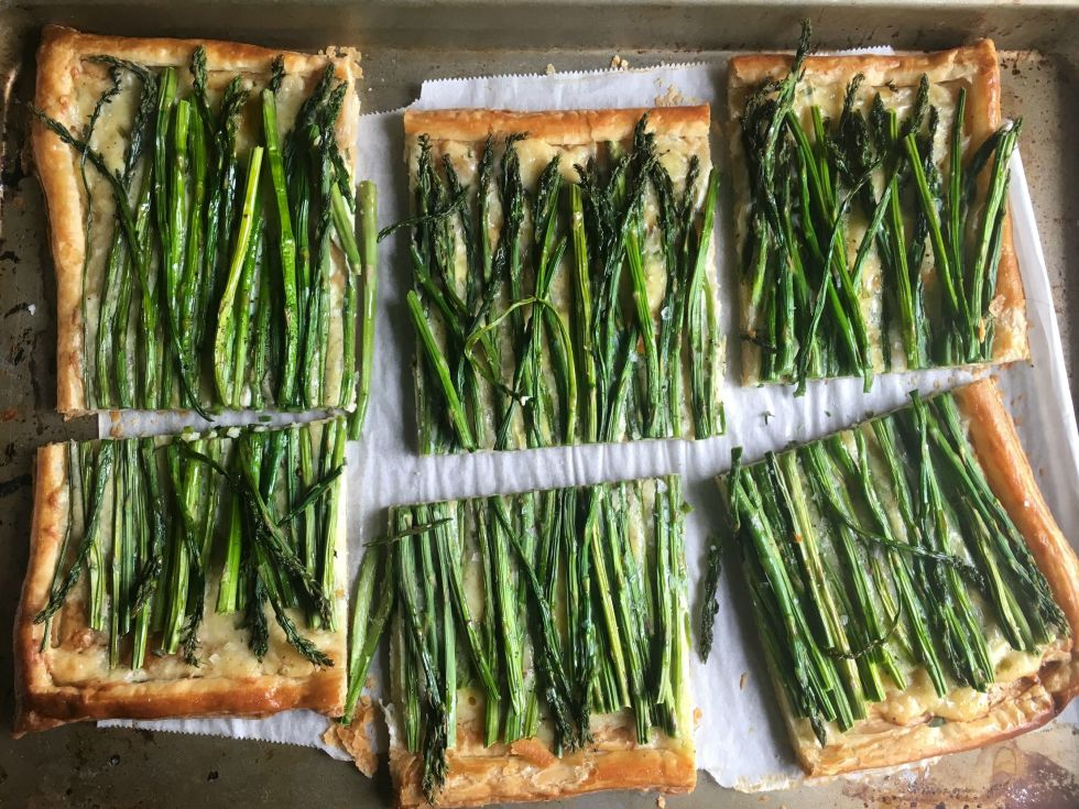 Tart chive and asparagus