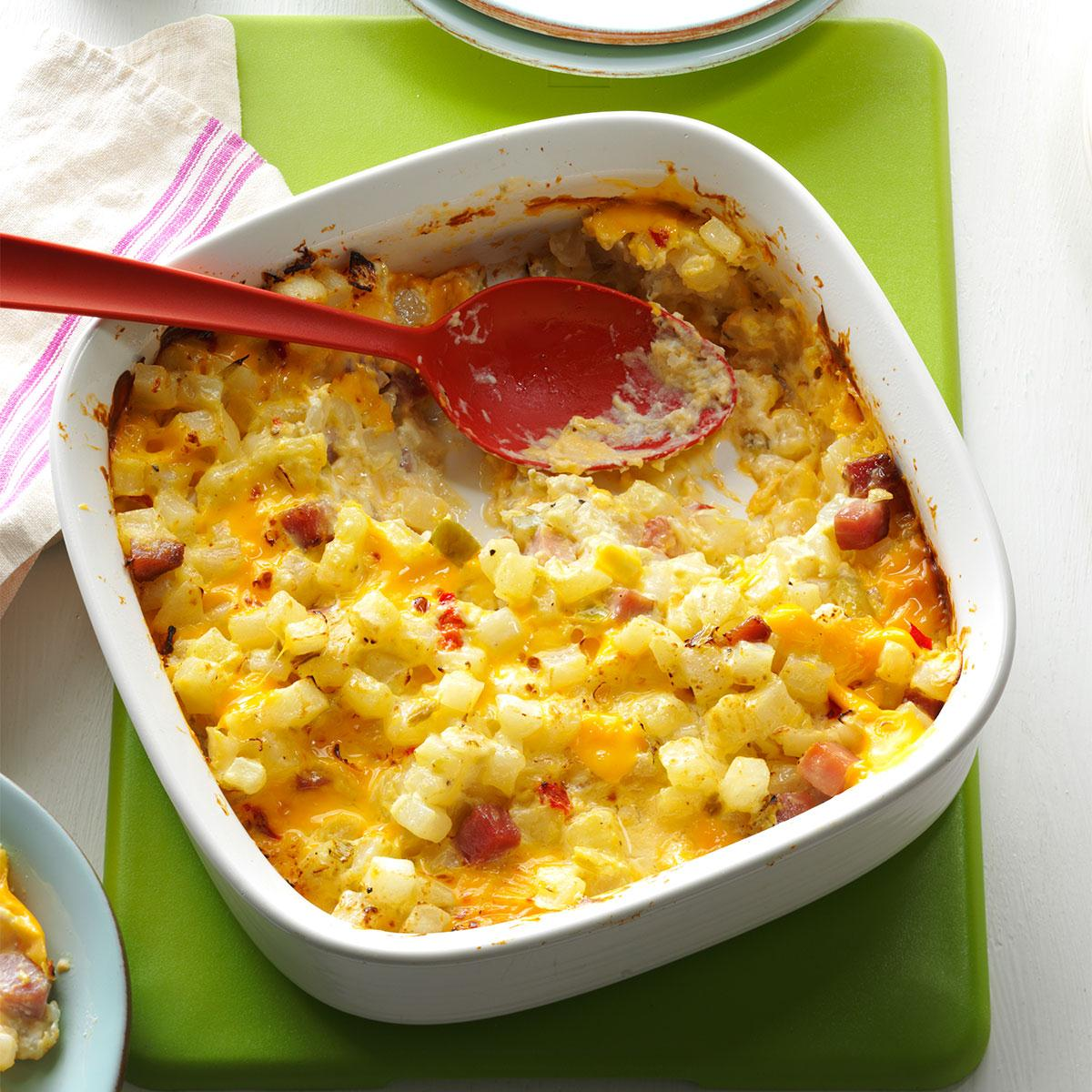 Ham cheese & casserole potato
