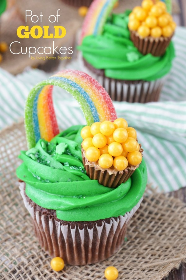 Cupcakes gold of pot soul and sugar