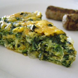 Quiche spinach crustless