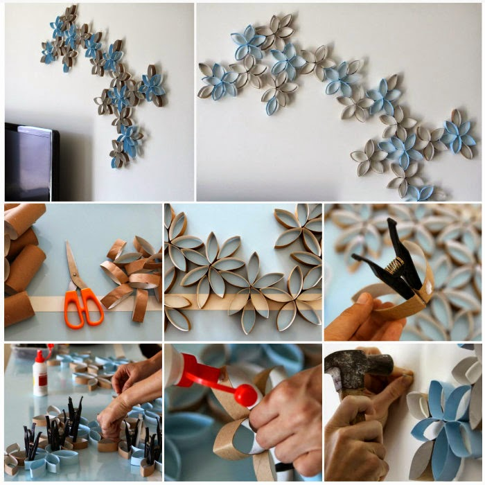 3D wall flower roll art paper diy