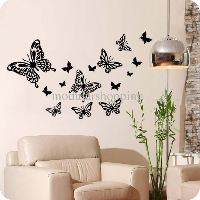 Butterfly pretty art wall decals