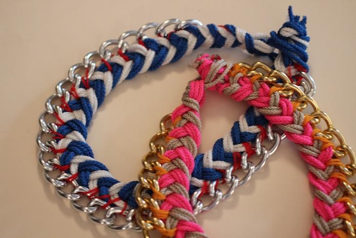 Diy chevron + chain necklace