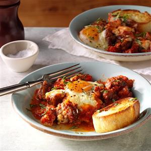 Italian eggs baked sausage recipe