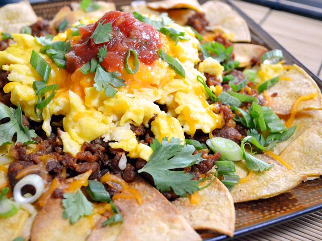 Nachos breakfast chorizo