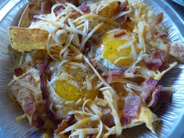 Sunny side up breakfast nachos
