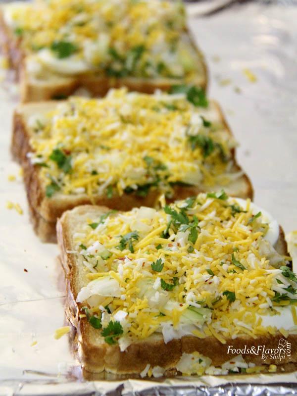 Egg toast cheese